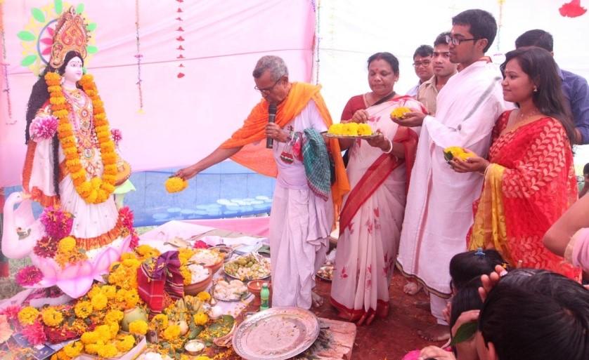 sarswati Puja celebration